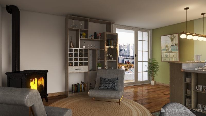 მყუდრო ოთახი Interior Design Render