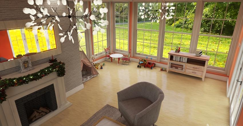 Playroom Interior Design Render