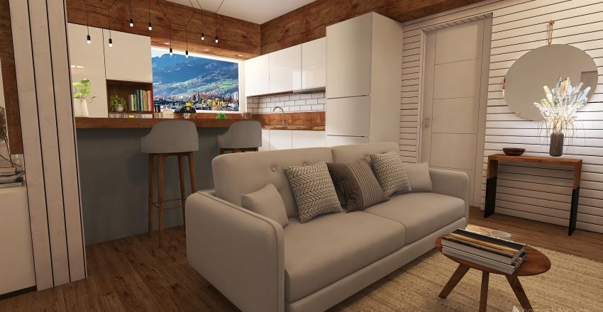 Small apartament Interior Design Render