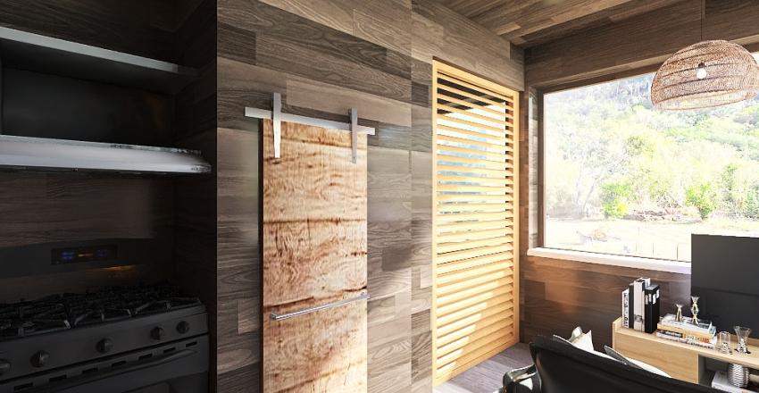 wood house 2 Interior Design Render