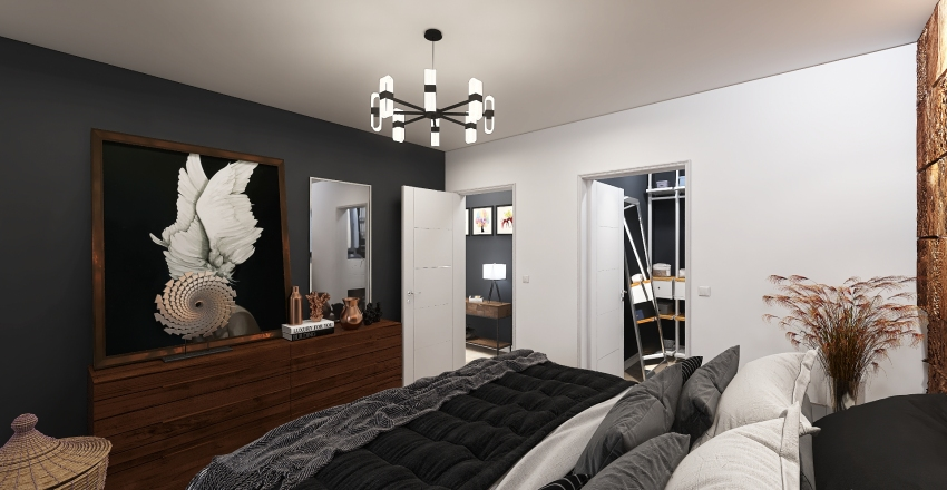 μικρο διαμερισμα Interior Design Render