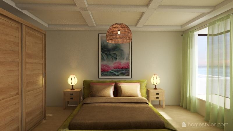 family sea house Interior Design Render