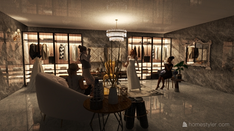 FANCY CLOTHING STORE Interior Design Render