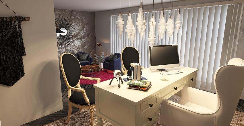 Oficina Rustico moderno Interior Design Render