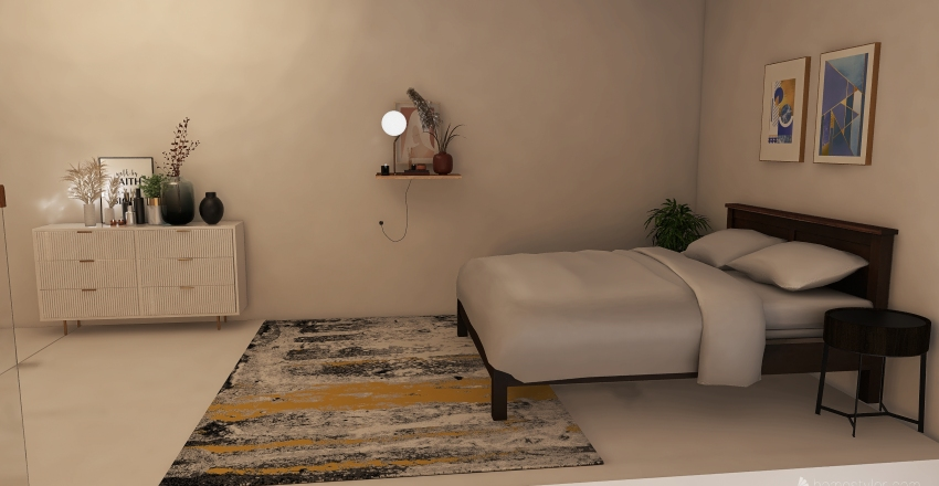 Studio loft apt. (updated) Interior Design Render