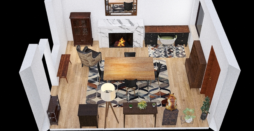 Dining Room/Office - Old 1 Interior Design Render