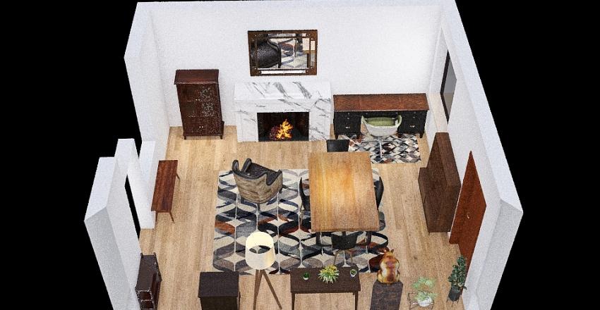 Dining Room/Office - Idea 3 Interior Design Render