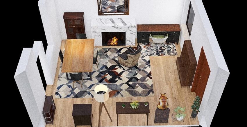 Dining Room/Office - Idea 2 Interior Design Render