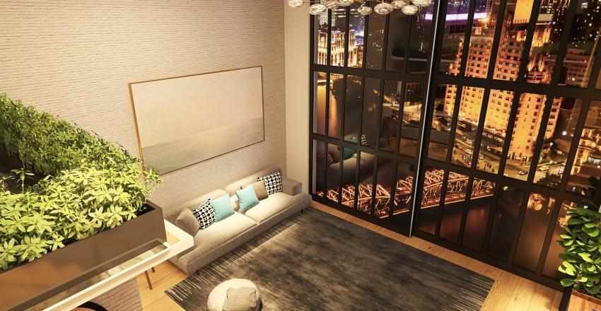 Seoul Loft Interior Design Render