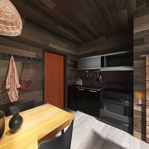Copy of wood house 2 Interior Design Render