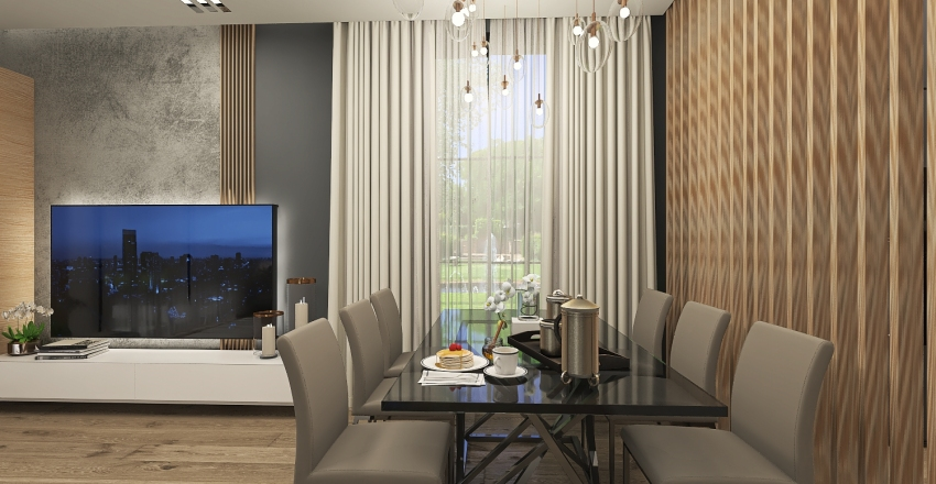 Orlando's suburb house Interior Design Render