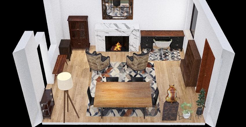 Dining Room/Office - Idea 1 Interior Design Render