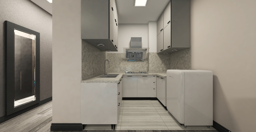 LP Nappali +háló 47 nm 18-as Interior Design Render