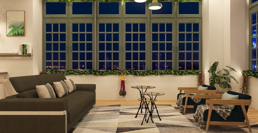 Xmas Interior Design Render