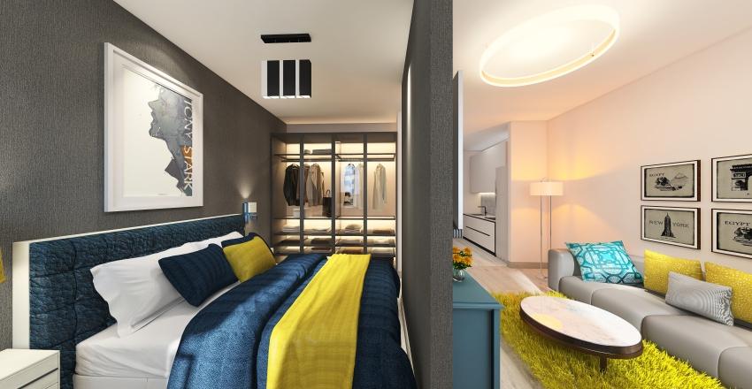 LP 1+háló 01-es Interior Design Render