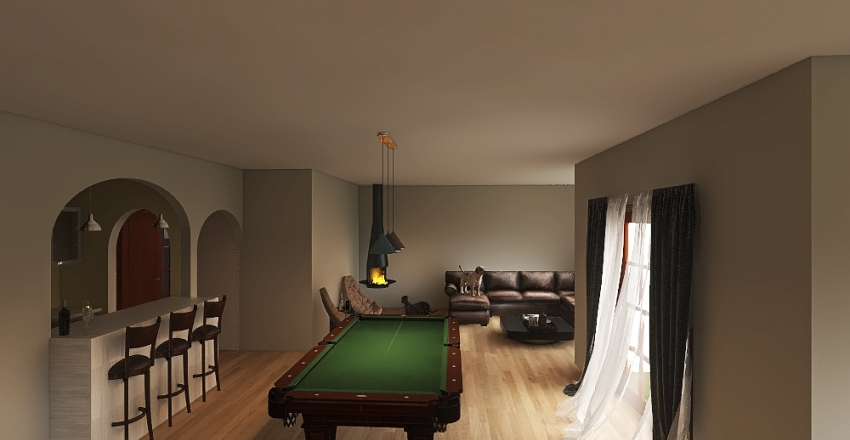 Copy of Meadowridge Basement Interior Design Render