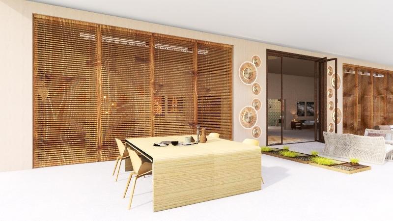 desert tiny house Interior Design Render