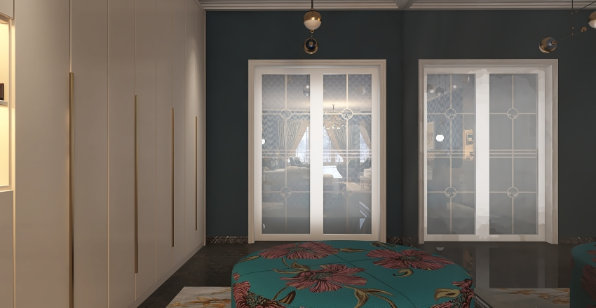 Art Deco inspired Interior Design Render