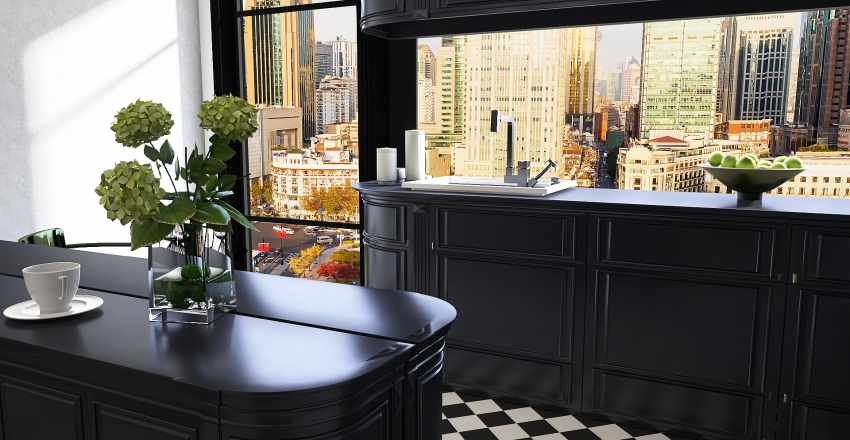 Art Deco Interior Design Render