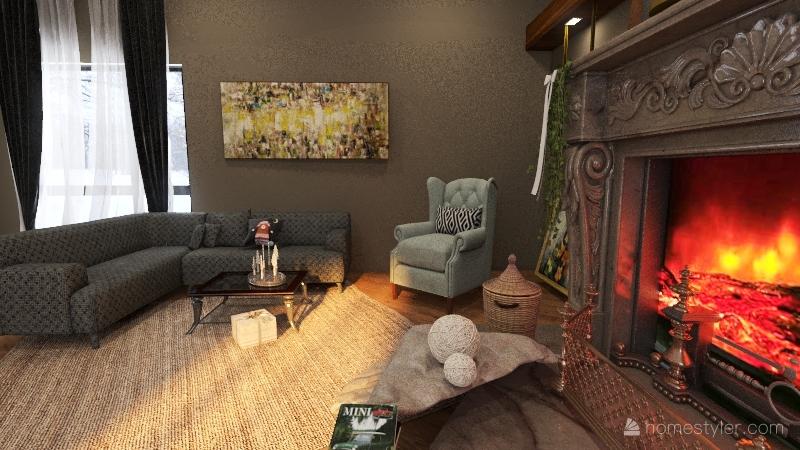 საახალწლო Interior Design Render
