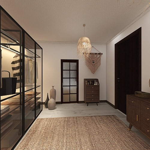 um uma casa de praia moderna Interior Design Render