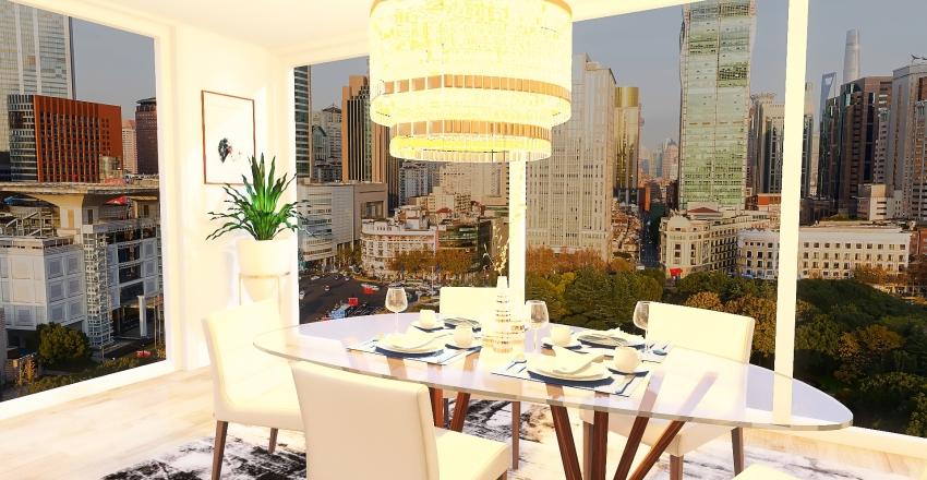 Kitchen and dining Interior Design Render