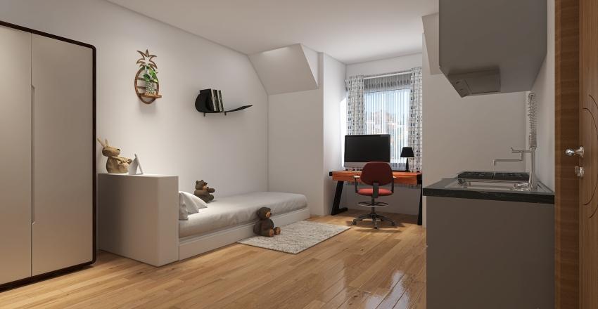Centrum garzonka Interior Design Render