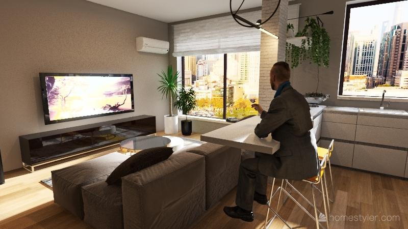 K HOUSE Interior Design Render