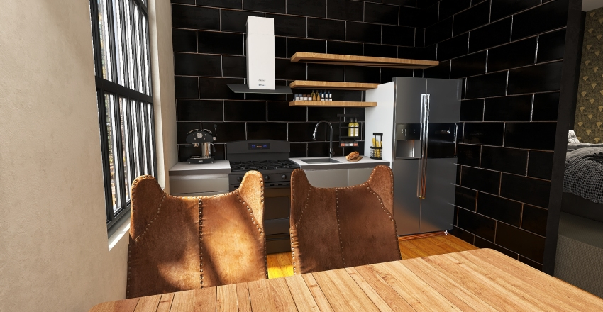 Modern Art Deco inspired Interior Design Render