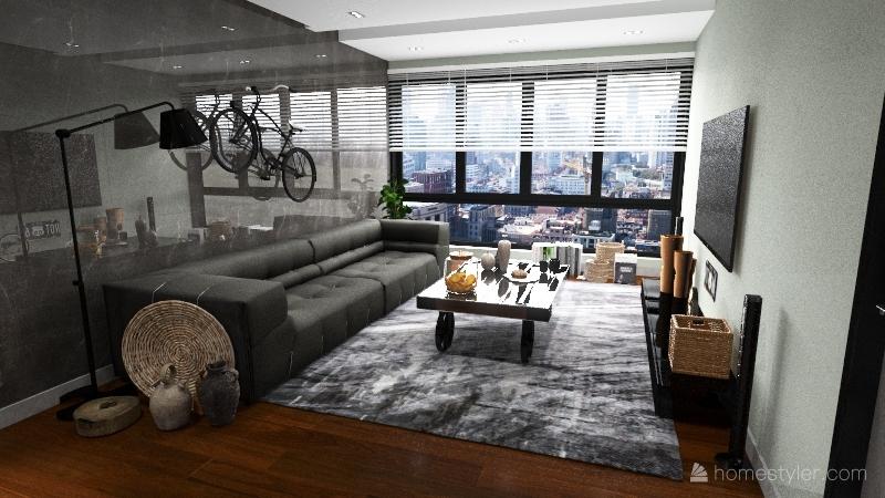 Retro Industrial Interior Design Render