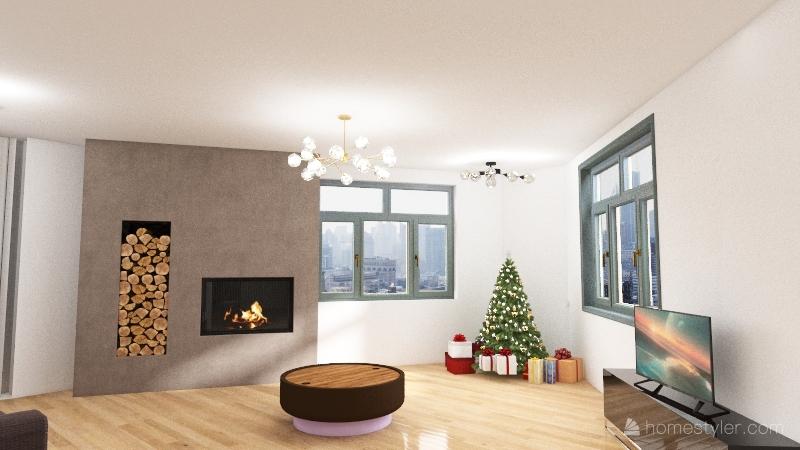 Large Residential Home Interior Design Render