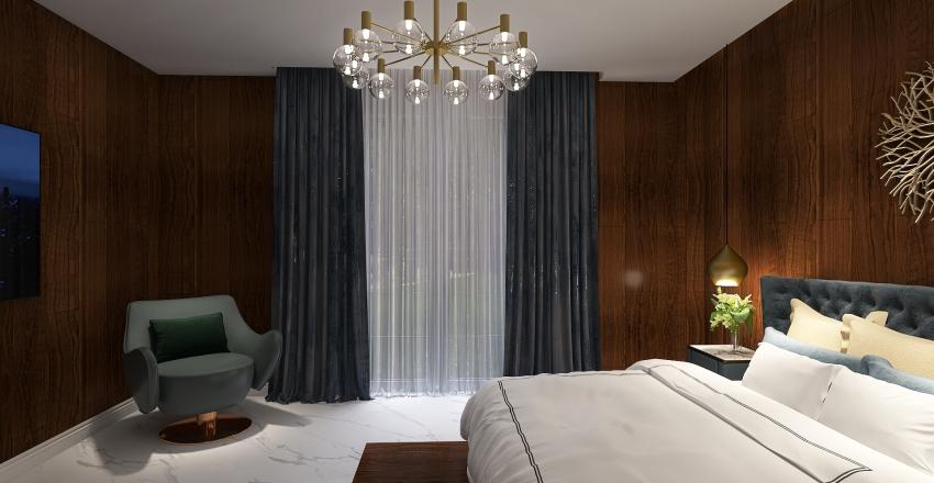 Luxury Master bedroom Interior Design Render