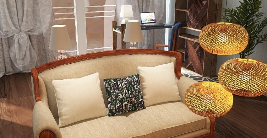 Santa Barbara Inspired Interior Interior Design Render