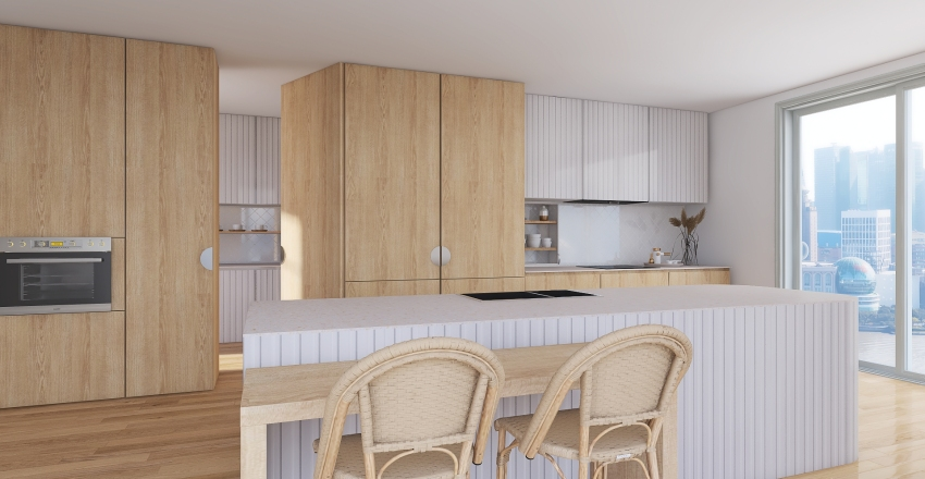 Soft Kitchen Interior Design Render