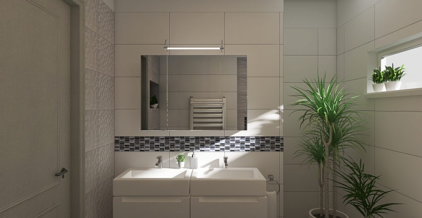 Hungary - Gödöllő - Bathroom - 1.floor Interior Design Render