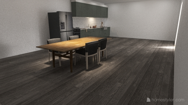 Kitchen/dining room Interior Design Render
