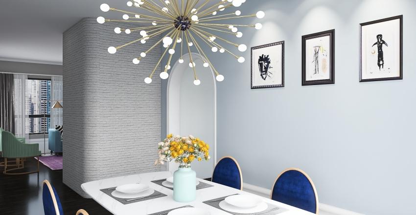 Art Deco-1st Floor Interior Design Render