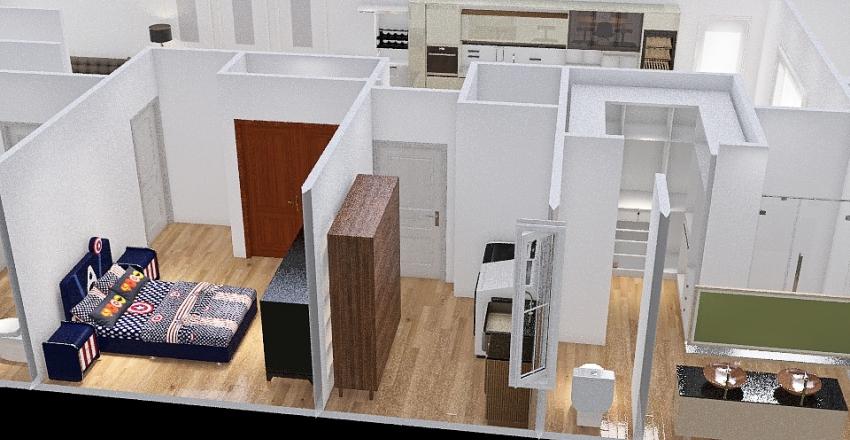 KITCHEN AND LR REVERSED 2.5 DOORS FACING LR NO WALL Interior Design Render