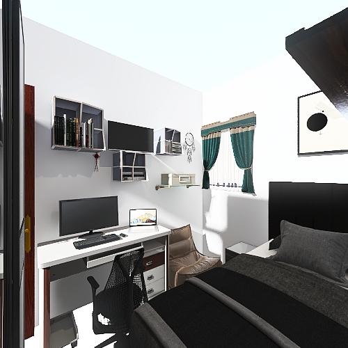 Bedroom LR Interior Design Render