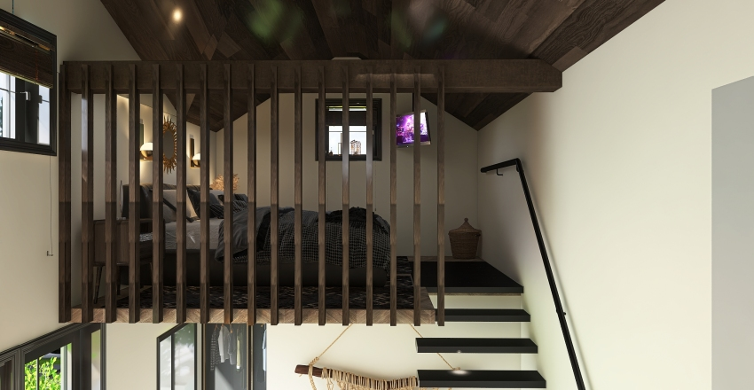 attefallshus med loft Interior Design Render