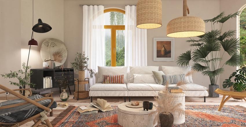 Modern Bohemian Interior Design Render