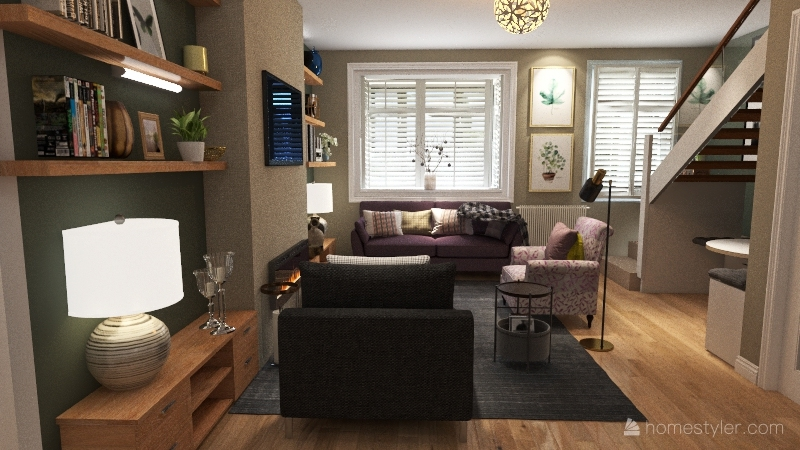 Sue's Liverpool home Interior Design Render