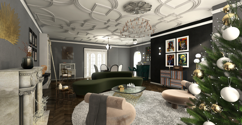 Classy Modern Hollywood Escape Interior Design Render