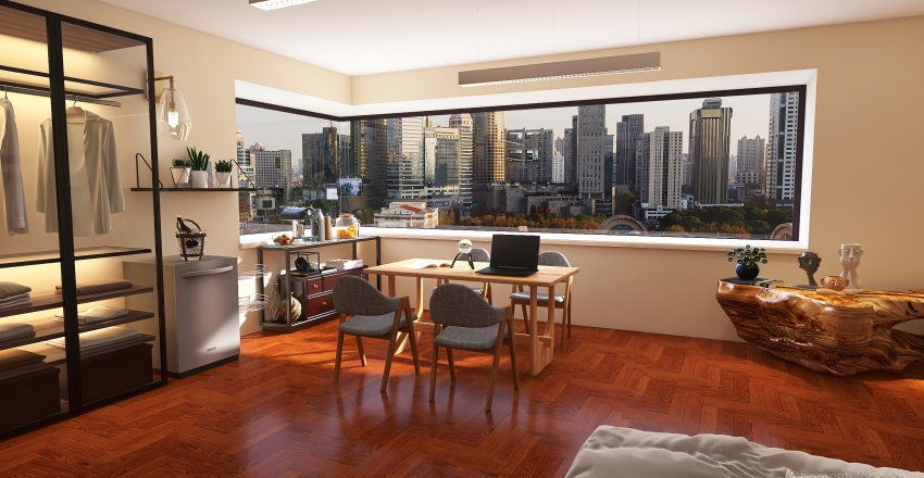 Small downtown apartment Interior Design Render