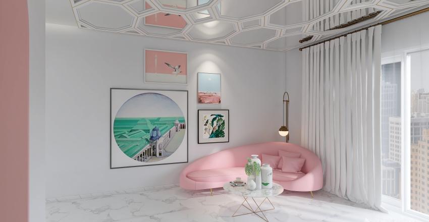 Habitación  Art Decó Interior Design Render