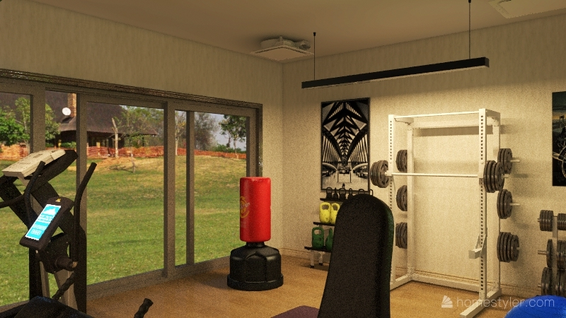 gym Interior Design Render