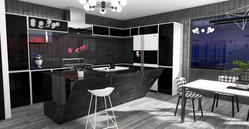 The Glass Oaks: Apartment #1 Floor Plan Interior Design Render