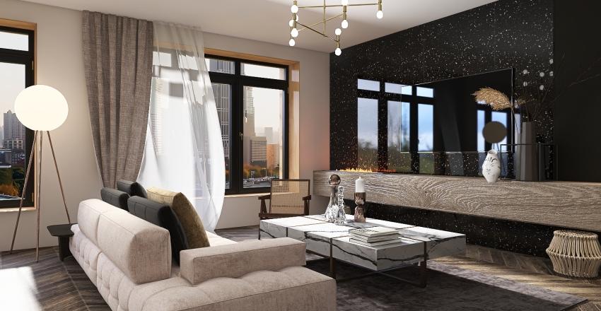 Moscow apartment Interior Design Render
