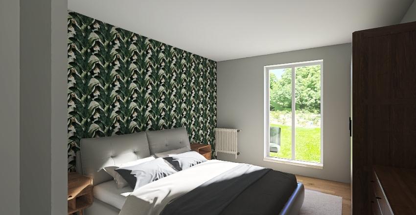 Bedroom_green Interior Design Render