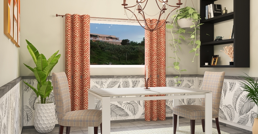 Average Sized Home in Santa Barbara Style Interior Design Render